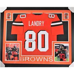 Jarvis Landry Signed Browns 35x43 Custom Framed Jersey Display (JSA COA)
