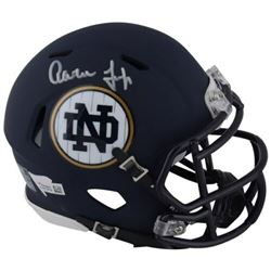 Aaron Judge Signed Notre Dame Fighting Irish Custom Matte Blue Speed Mini Helmet (Fanatics Hologram