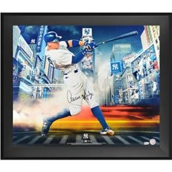 """Aaron Judge Signed Yankees """"Titans of the Game"""" 23.5x27.5 Custom Framed Photo Display (Fanatics Holo"""
