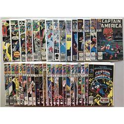 Lot of (38) 1971-1992 Marvel Captain America 1st Series Comic Books