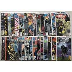 Lot of (30) 1986-1990 DC Batman Comic Books
