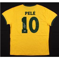 Pele Signed Brazil Jersey (PSA COA)