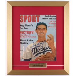 Sandy Koufax Signed Dodgers 14x17 Custom Framed Vintage Sport Magazine Display (JSA ALOA)
