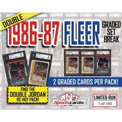 DOUBLE 1986-87 FLEER GRADED SET BREAK BOX – (5) MICHAEL JORDAN GRADED RC's!