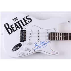 """Pete Best Signed """"The Beatles"""" 38"""" Electric Guitar Inscribed """"The Beatles"""" (PSA COA)"""