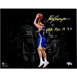 "Klay Thompson Signed Warriors 11x14 Photo Inscribed ""NBA REC 14 3s"" (Fanatics Hologram)"