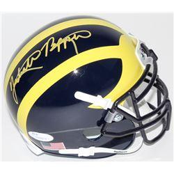 Jabrill Peppers Signed Michigan Wolverines Mini Helmet (JSA COA)