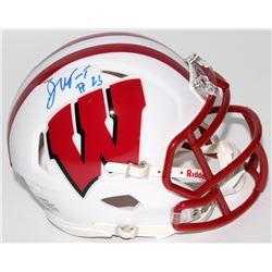 Jonathan Taylor Signed Wisconsin Badgers Speed Mini Helmet (JSA COA)