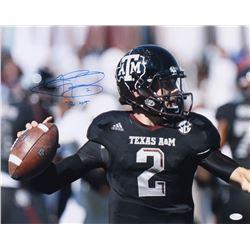 "Johnny Manziel Signed Texas AM Aggies 16x20 Photo Inscribed ""12 HT"" (JSA COA)"