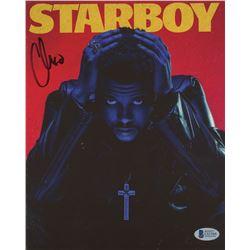 """The Weeknd Signed """"Starboy"""" 8x10 Cut (Beckett COA)"""