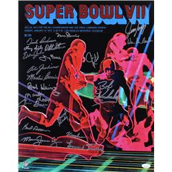 """1972 Dolphins """"Super Bowl VII"""" 16x20 Photo Team-Signed by (21) with Jim Kiick, Dick Anderson, Larry"""