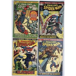 Lot of (4) 1972 Marvel Amazing Spider-Man 1st Series Series Comic Books with #107, #108, #109  #110
