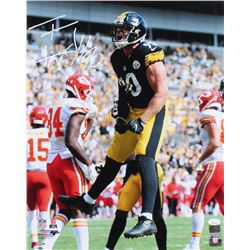 T. J. Watt Signed Steelers 16x20 Photo (JSA COA  Watt Hologram)