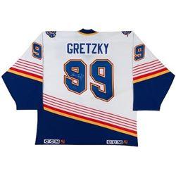 Wayne Gretzky Signed Blues CCM Jersey (UDA COA)