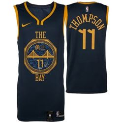 Klay Thompson Signed Warriors  The Bay  City Edition Nike Jersey (Fanatics Hologram)