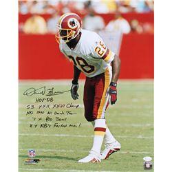 Darrell Green Signed Redskins 16x20 Photo with Multiple Inscriptions (JSA Hologram)