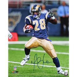 Marshall Faulk Signed Rams 16x20 Photo (JSA COA)