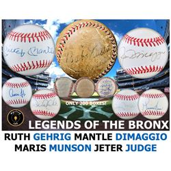 Mystery Ink Legends Of The Bronx Baseball Ruth/Gehrig Edition! 1 Yankees Signed Baseball In Every Bo