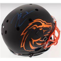 Demarcus Lawrence Signed Boise State Broncos Full-Size Custom Matte Black Helmet (Radtke COA)