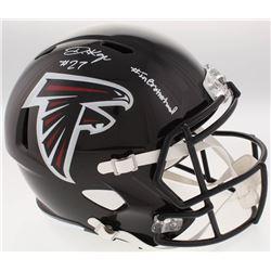 """Damontae Kazee Signed Falcons Full-Size Speed Helmet Inscribed """"#InBrotherhood"""" (Radtke COA)"""