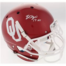 """Baker Mayfield Signed Oklahoma Sooners Full-Size Authentic On-Field Helmet Inscribed """"17 HT"""" (Becket"""