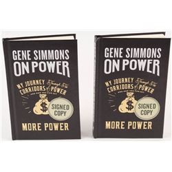 """Lot of (2) Gene Simmons Signed """"On Power: My Journey Through the Corridors of Power and How You Can"""