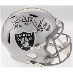 Jim Plunkett, Marcus Allen  Fred Biletnikoff Signed Raiders Full-Size Speed Helmet with (3) SB MVP I
