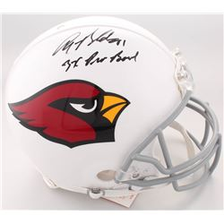 """Anquan Boldin Signed Cardinals Full-Size Authentic On-Field Helmet Inscribed """"3X Pro Bowl"""" (Beckett"""