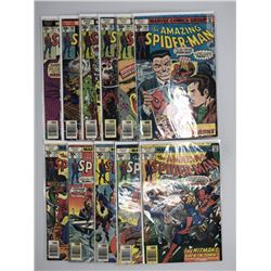 Lot of (11) 1977 Marvel Amazing Spider-Man 1st Series Comic Books