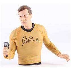 """William Shatner Signed 7.5"""" Star Trek """"Captin Kirk"""" Bank (Radtke COA)"""