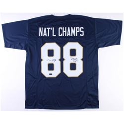 "Lou Holtz Signed Notre Dame Fighting Irish National Champs Jersey Inscribed ""Play Like A Champion To"