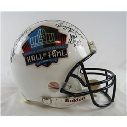Hall of Fame Logo Full-Size Authentic On-Field Helmet Signed by (6) with Lenny Moore, Larry Little,