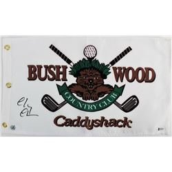 "Chevy Chase Signed ""Caddyshack"" Golf Pin Flag (Beckett COA  Chase Hologram)"