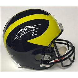 Charles Woodson Signed Michigan Wolverines Full-Size Helmet (Beckett COA)