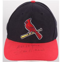 """Stan Musial Signed Cardinals Snap-Back Hat Inscribed """"#62 HR game"""" (PSA LOA)"""