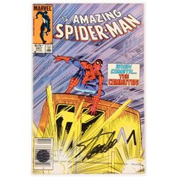 """Stan Lee Signed 1985 """"The Amazing Spider-Man"""" Vol. 1 Issue #267 Marvel Comic Book (Lee COA)"""