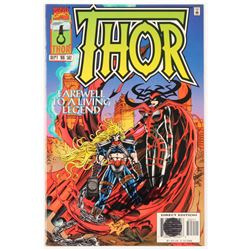"""Stan Lee Signed 1996 """"Thor"""" Volume 1 Issue #502 Direct Edition Marvel Comic Book (Lee COA)"""