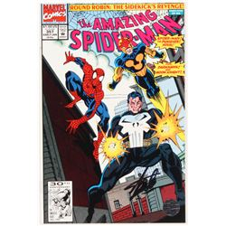 """Stan Lee Signed 1992 """"The Amazing Spider-Man"""" Volume 1 Issue #357 Marvel Comic Book (Lee COA)"""
