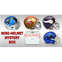 Schwartz Sports Football Hall of Famer Signed Mini Helmet Mystery Box - Series 9 (Limited to 75)