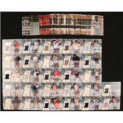 2003 SP Game-Used Complete Set of (87) Golf Cards with #73 N.Gulbis AU Shirt T4 RC, #82 A.Sorenstam