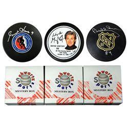Schwartz Sports Hockey Hall of Famer Signed Logo Hockey Puck Mystery Box - Series 3 (Limited to 100)