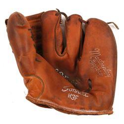 Hoyt Wilhelm Signed Vintage Baseball Glove (JSA COA)