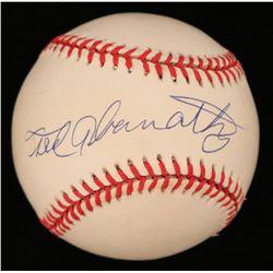 Ted Abernathy Signed OAL Baseball (JSA COA)