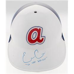 "Evan Gattis Signed Atlanta Braves Throwback Full-Size Batting Helmet Inscribed ""El Oso Blanco"" (Radt"