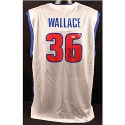 Rasheed Wallace Signed Detroit Pistons Reebok Jersey (JSA COA)