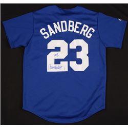 Ryne Sandberg Signed Chicago Cubs Majestic Jersey (JSA COA)