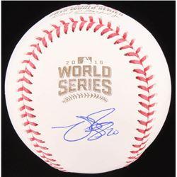 Matt Szczur Signed 2016 World Series Baseball (Schwartz COA)