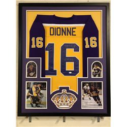 "Marcel Dionne Signed Los Angeles Kings 34x42 Custom Framed Jersey Inscribed ""HOF 92"" (JSA COA)"