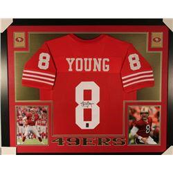 Steve Young Signed San Francisco 49ers 35x43 Custom Framed Jersey (JSA COA  Young Hoogram)