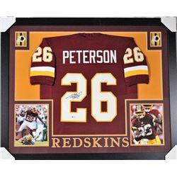 Adrian Peterson Signed Washington Redskins 35x43 Custom Framed Jersey (Beckett COA)